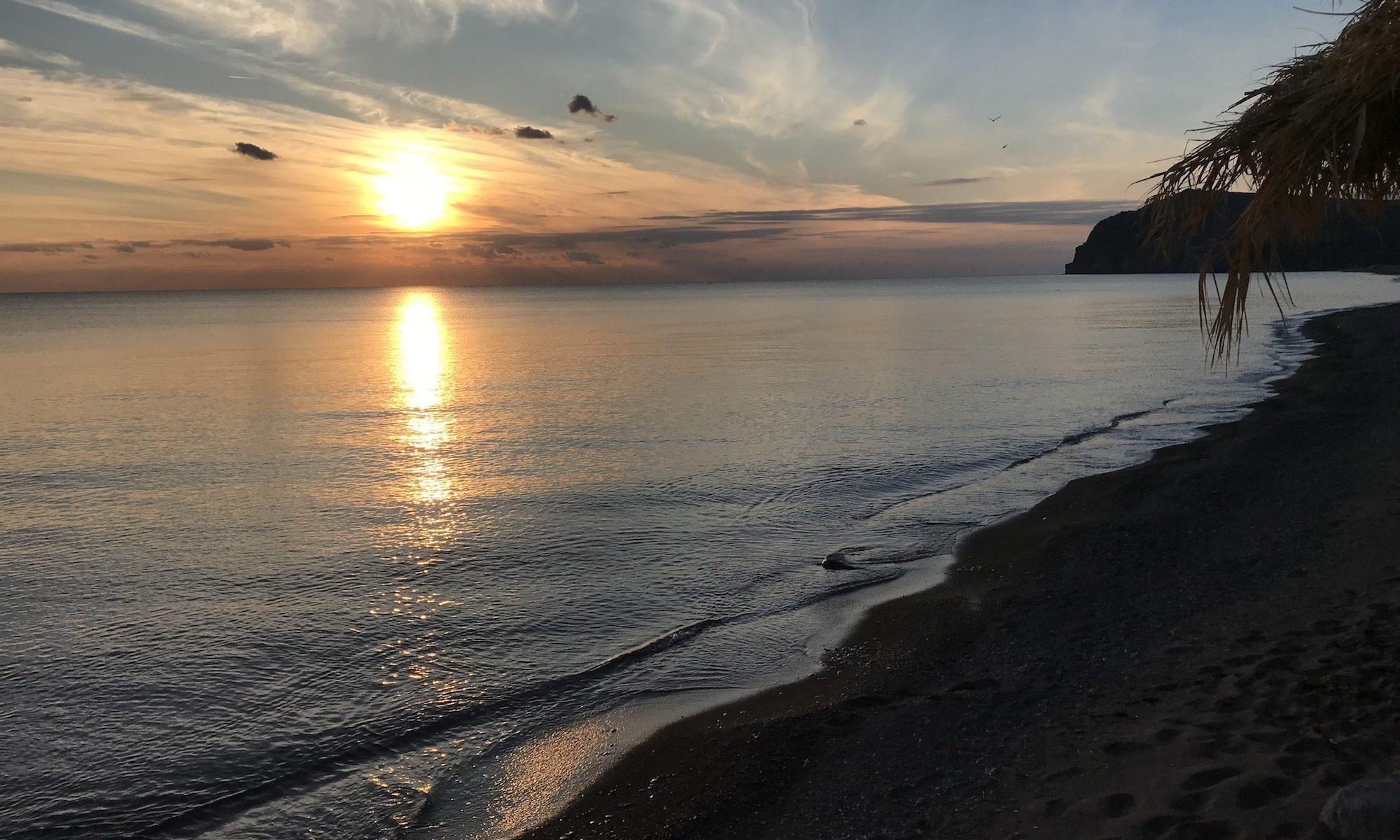 Sonnenuntergang Eressos
